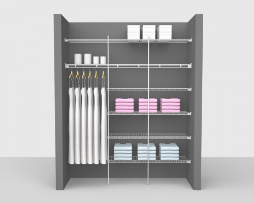 Fixed Mount Bathroom Package 1 - Shelf & Rod shelving up to 1,83m/ 6' wide