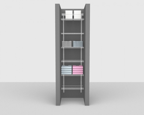 Adjustable Bathroom Package 3 - ShelfTrack with Linen shelving up to 0,61m/ 2' wide