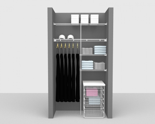 Fixed Mount Package 5 - Linen shelving up to 1,22m/ 4' wide