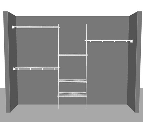 Organiser kit 2110, for 8' (2.44m) to 10' (3.05m) wide enclosures