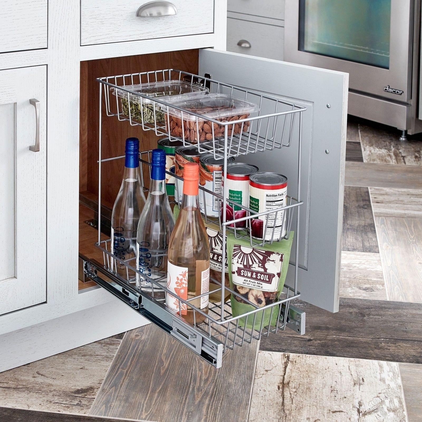 Pull Out Drawer Kitchen Cabinet Specs: ClosetMaid 3 Tier Pull Out Basket
