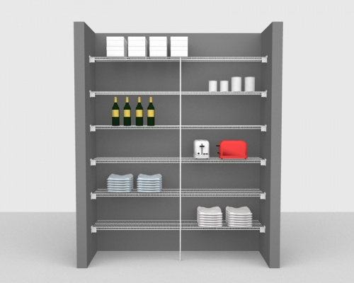 Fixed Mount Package 1 - CloseMesh shelving up to 1,83m/ 6' wide