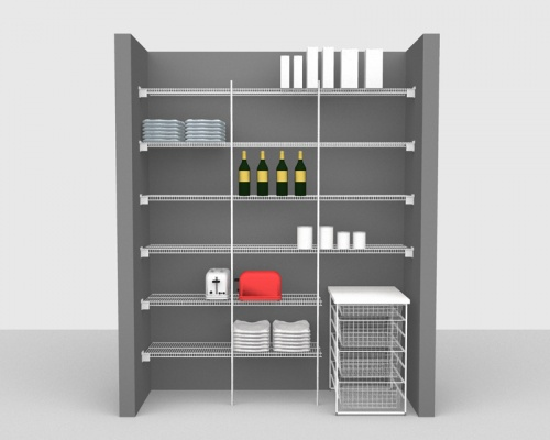 Fixed Mount Package 2 - CloseMesh shelving up to 1,83m/ 6' wide