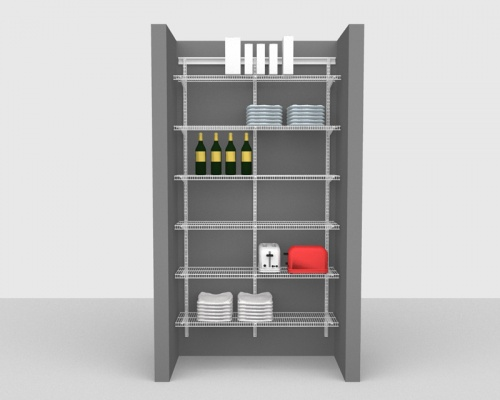 Adjustable Package 1 - ShelfTrack with CloseMesh shelving up to 1,22m/ 4' wide