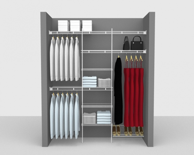 Fixed Mount Package 9 - Shelf & Rod shelving up to 1,83m/ 6' wide