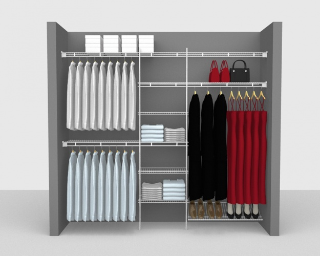 Fixed Mount Package 9 - Shelf & Rod shelving up to 2,44m/ 8' wide