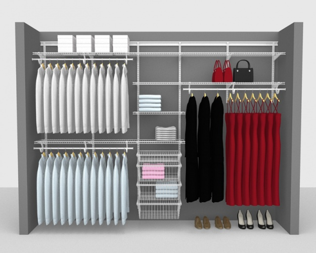 Adjustable Package 8 - ShelfTrack with SuperSlide shelving up to 3,05m/ 10' wide