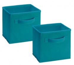 1538 - 2 Pack Mini Fabric Drawers Ocean Blue