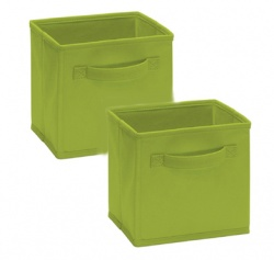 1540 - 2 Pack Mini Fabric Drawers Spring Green