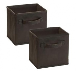 1547 - 2 Pack Mini Fabric Drawers Canteen Brown
