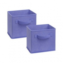 1576 - 2 Pack Mini Fabric Drawers Purple