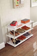 5013 - 3 Tier Shoe Organiser (White)