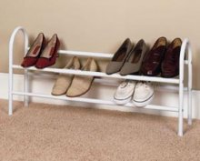 8037 - Two Tier Expandable Shoe Rack
