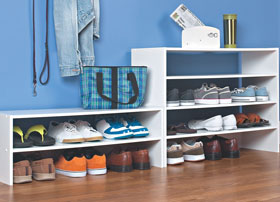 8963 - White 31'' Wide Stackable Storage Unit