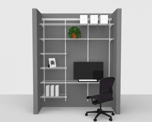 Adjustable Office Package 1 - ShelfTrack with Linen shelving up to 1,83m/ 6' wide