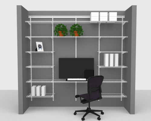 Adjustable Office Package 1 - ShelfTrack with Linen shelving up to 2,44m/ 8' wide