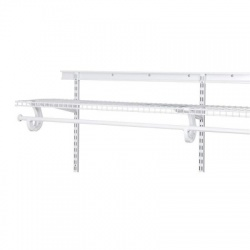 Add on Shelf with Hang Bar for ShelfTrack Organiser Kits
