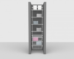 Adjustable Bathroom Package 2 - ShelfTrack with Linen shelving up to 0,61m/ 2' wide
