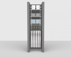Adjustable Bathroom Package 1 - ShelfTrack with 'All Purpose' Linen shelving up to 0,61m/ 2' wide