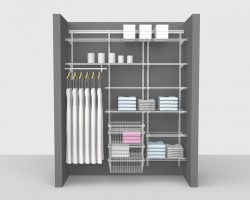 Adjustable Bathroom Package 2 - ShelfTrack with 'All Purpose' Linen shelving up to 1,83m/ 6' wide