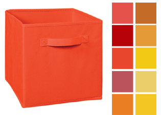 Cubeicals Reds/ Oranges/ Yellow Fabric Drawers