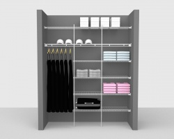 Fixed Mount Package 4 - Linen shelving up to 1,83m/ 6' wide