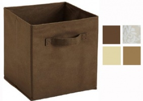 Cubeicals Natural/ Brown Fabric Drawers