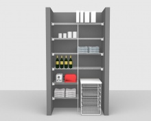 Fixed Mount Package 2 - CloseMesh shelving up to 1,22m/ 4' wide