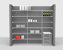 Fixed Mount Package 2 - CloseMesh shelving up to 2,44m/ 8' wide