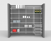 Adjustable Package 2 - ShelfTrack with CloseMesh shelving up to 2,44m/ 8' wide