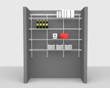 Adjustable Package 3 - ShelfTrack with CloseMesh shelving up to 1,83m/ 6' wide
