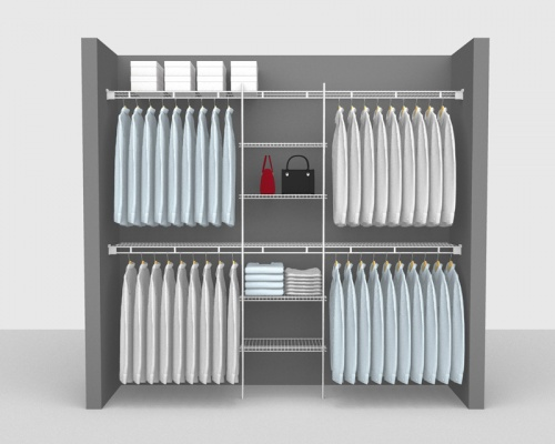 Fixed Mount Package 6 - Shelf & Rod shelving up to 2,44m/ 8' wide