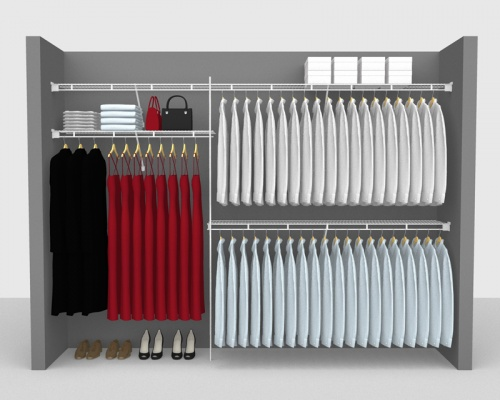 Fixed Mount Package 1 - Shelf & Rod shelving up to 3,05m/ 10' wide
