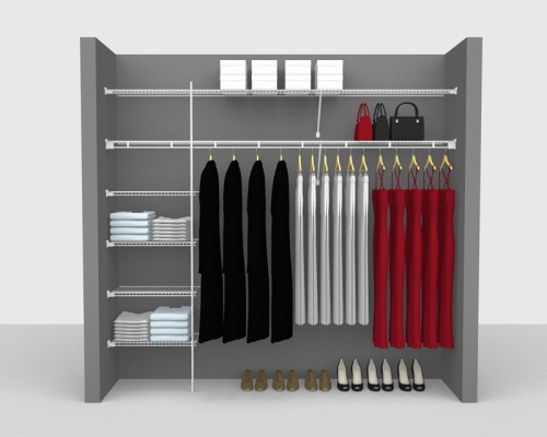 Fixed Mount Package 3 - Shelf & Rod shelving up to 2,44m/ 8' wide