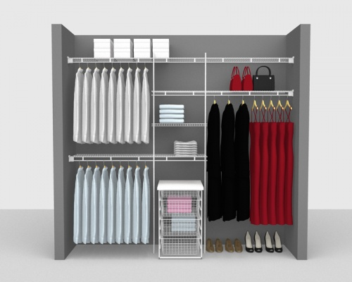 Fixed Mount Package 8 - Shelf & Rod shelving up to 2,44m/ 8' wide