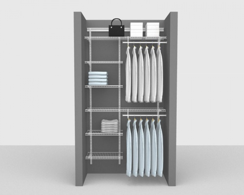Adjustable Package 2 - ShelfTrack with SuperSlide shelving up to 1,22m/ 4' wide