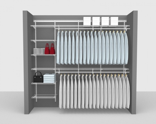 Adjustable Package 2 - ShelfTrack with SuperSlide shelving up to 2,44m/ 8' wide