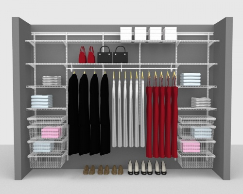 Adjustable Package 5 - ShelfTrack with SuperSlide shelving up to 3,05m/ 10' wide