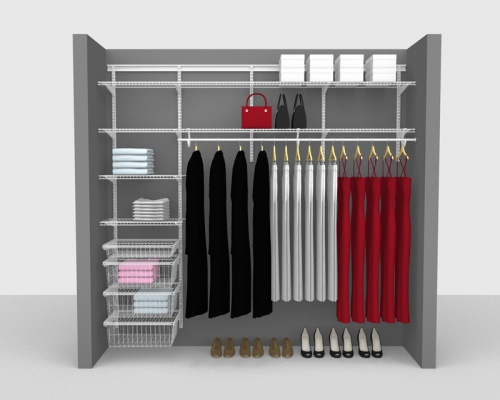 Adjustable Package 5 - ShelfTrack with SuperSlide shelving up to 2,44m/ 8' wide