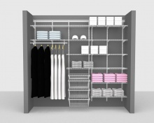 Adjustable Package 5 - ShelfTrack with Linen shelving up to 2,44m/ 8' wide