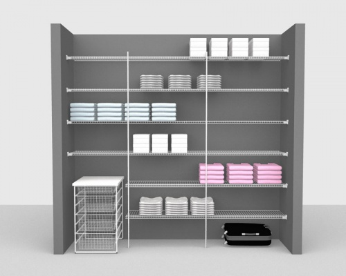 Fixed Mount Package 3 - Linen shelving up to 2,44m/ 8' wide