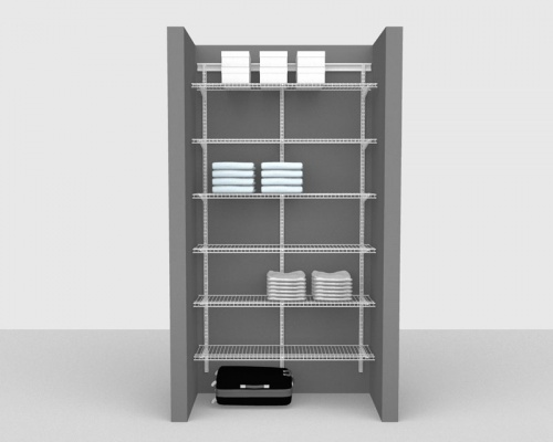 Adjustable Package 1 - ShelfTrack with Linen shelving up to 1,22m/ 4' wide