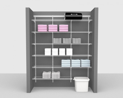 Adjustable Package 2 - ShelfTrack with Linen shelving up to 1,83m/ 6' wide
