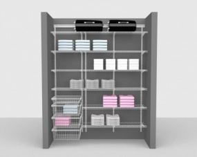 Adjustable Package 3 - ShelfTrack with Linen shelving up to 1,83m/ 6' wide