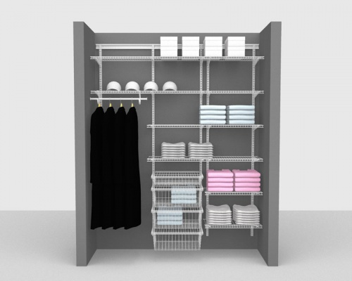 Adjustable Package 5 - ShelfTrack with Linen shelving up to 1,83m/ 6' wide