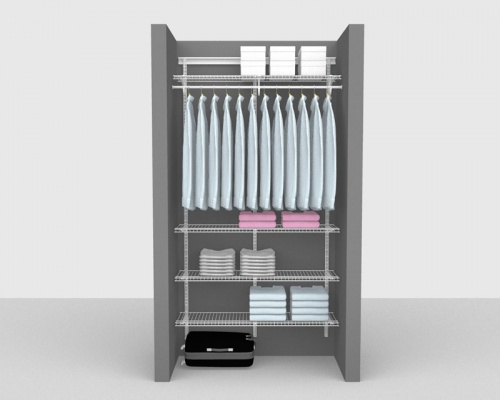 Adjustable Package 6 - ShelfTrack with Linen shelving up to 1,22m/ 4' wide